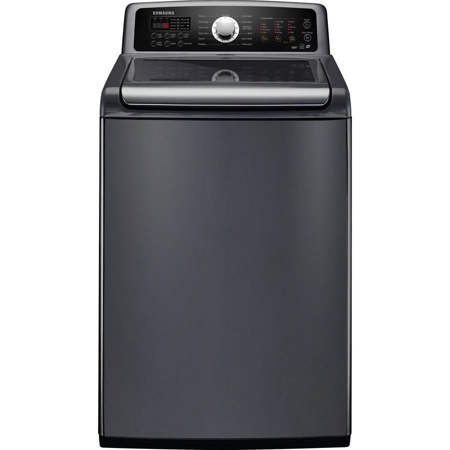 Samsung 4.8 cu ft High-Efficiency Top-Load Washer (Platinum) ENERGY STAR