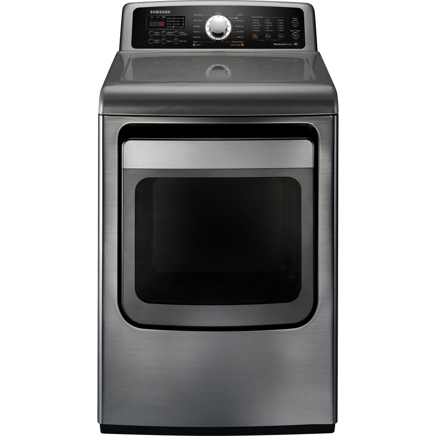 Samsung 7.4-cu ft Gas Dryer with Steam Cycle (Platinum)
