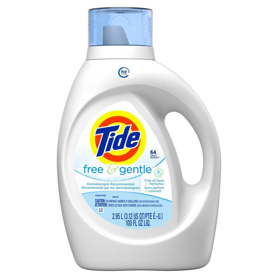 Tide Free and Gentle 100-fl oz  HE Laundry Detergent