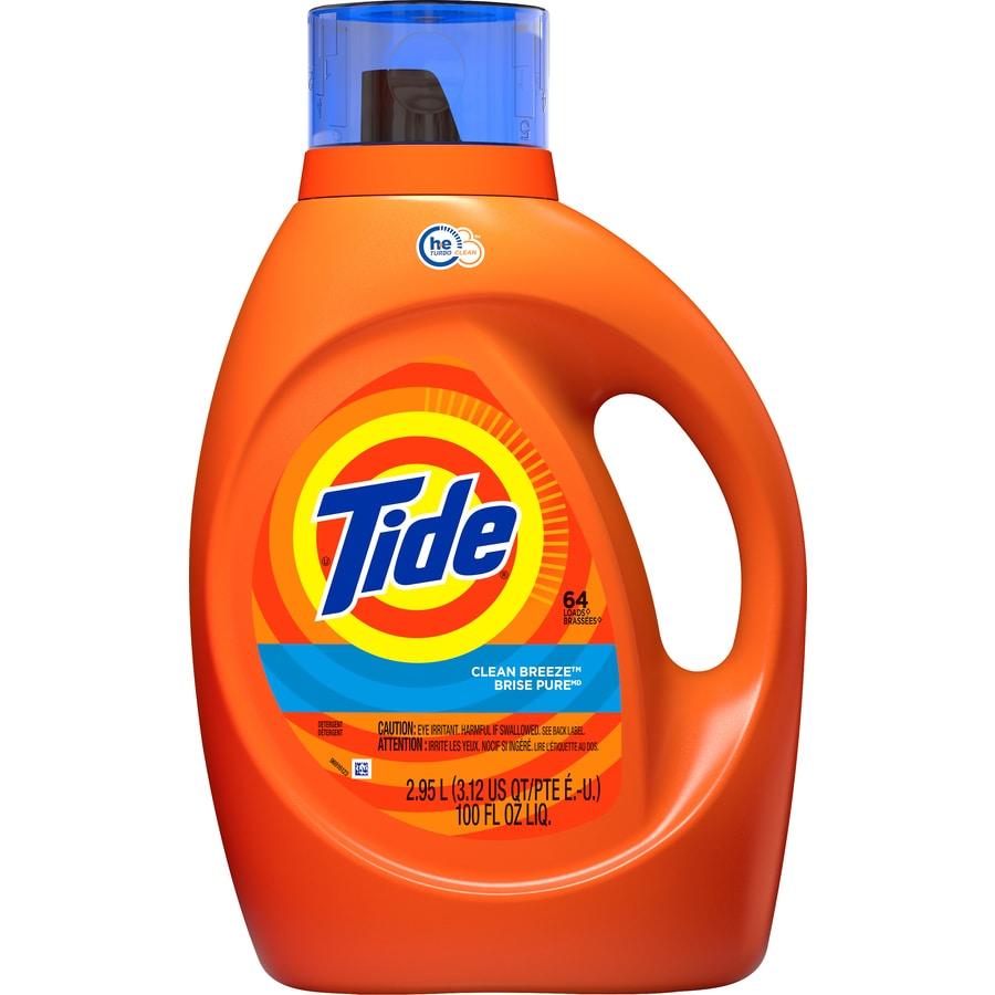 Tide Liquid 100-fl oz Clean Breeze HE Laundry Detergent