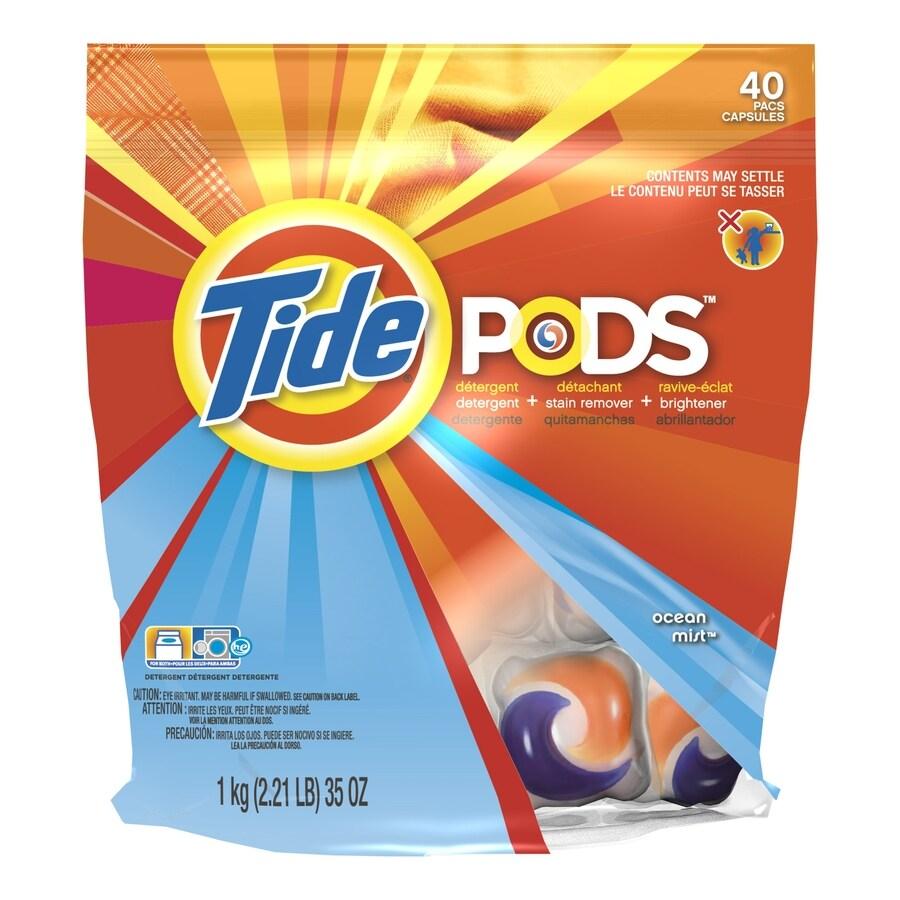Tide Pods 40-Count Ocean Mist Laundry Detergent