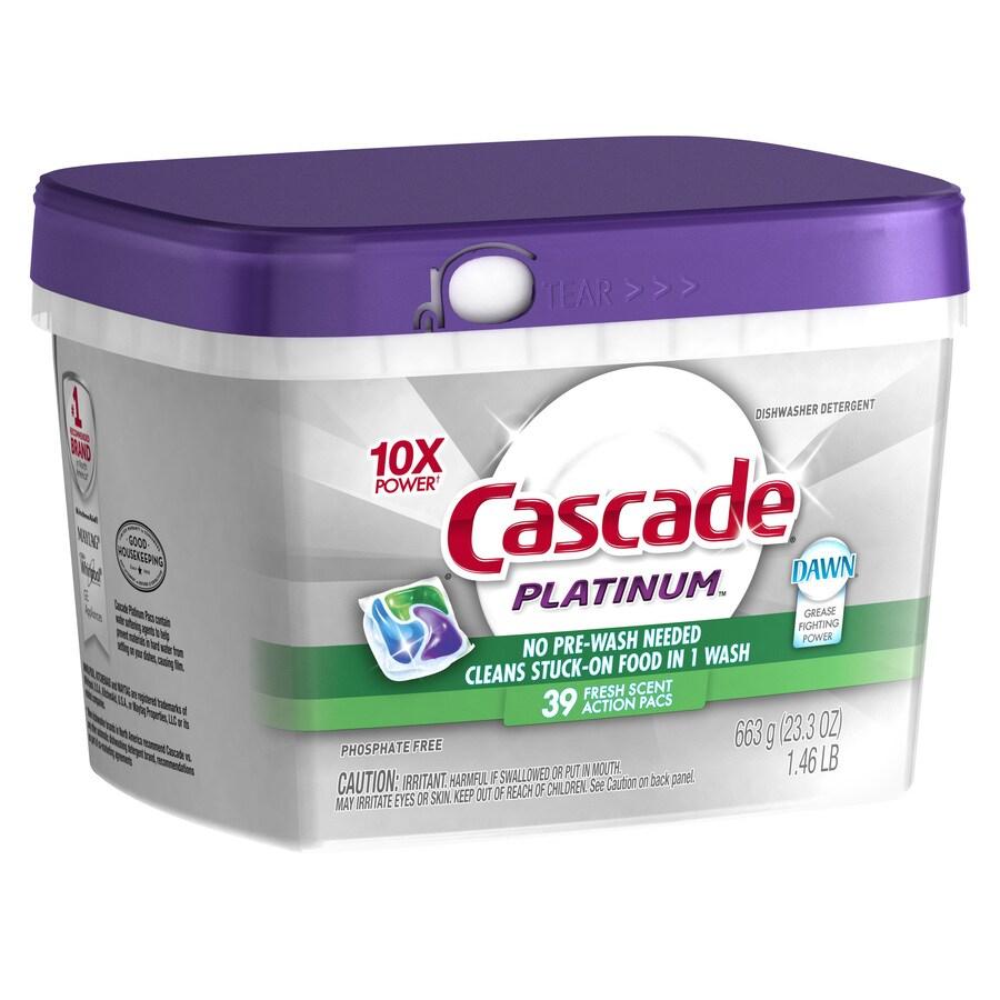 Cascade Platinum 39-Count Fresh Dishwasher Detergent