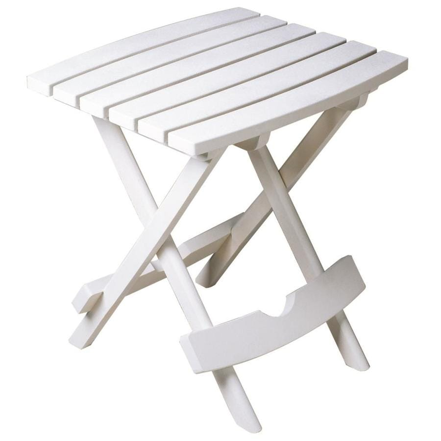 Adams Mfg Corp 15.25-in W x 17.375-in L Square Resin Folding End Table