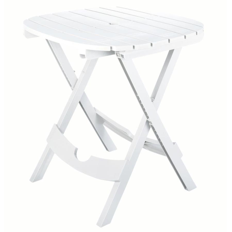 Adams Mfg Corp 29.75-in W x 28-in L Round Resin Folding Dining Table