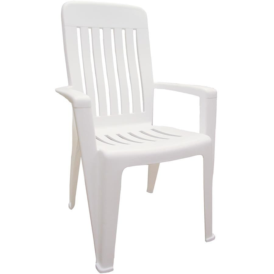 Shop Adams Mfg Corp White Resin Stackable Patio Dining Chair At