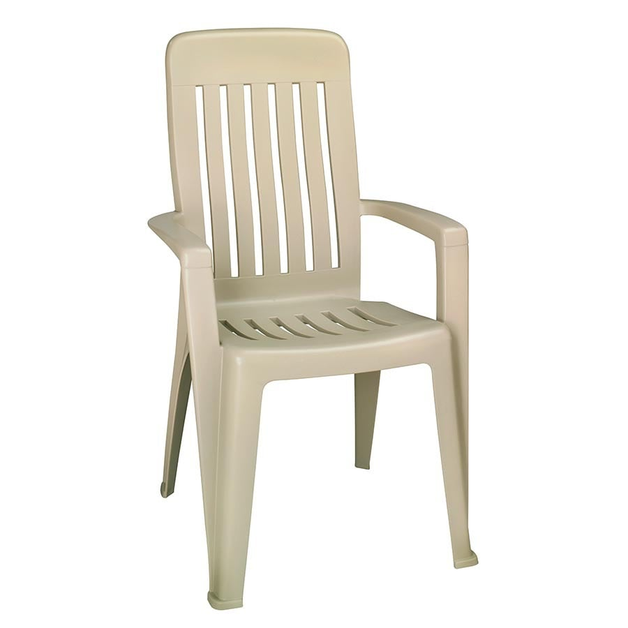 mfg corp desert clay resin stackable patio dining chair at
