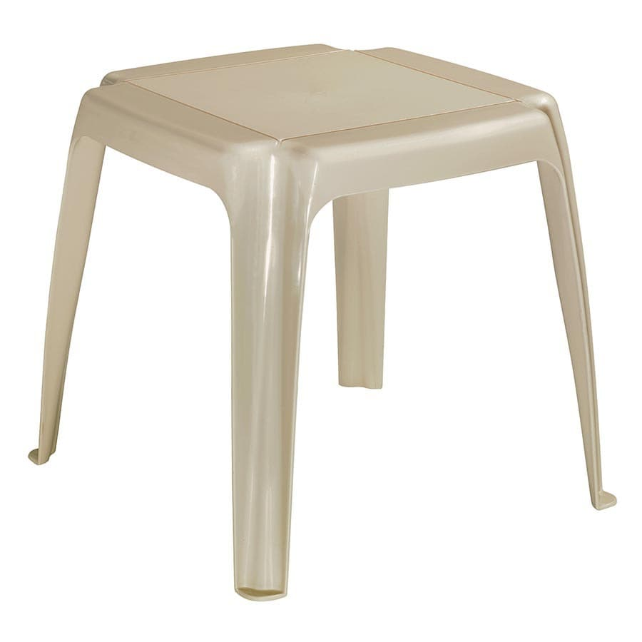 Adams Mfg Corp Amesbury 16-in x 16-in Desert Clay Resin Rectangle Patio End Table