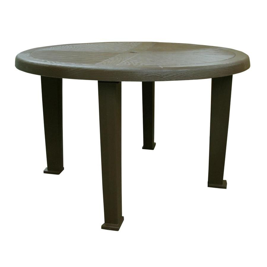 adams mfg corp 48 in w x 48 in l round resin dining table at