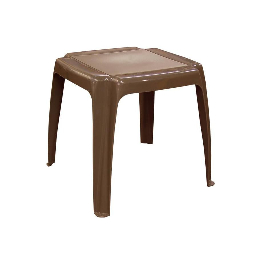 Adams Mfg Corp 16-in x 16-in Earth Resin Square Patio Side Table