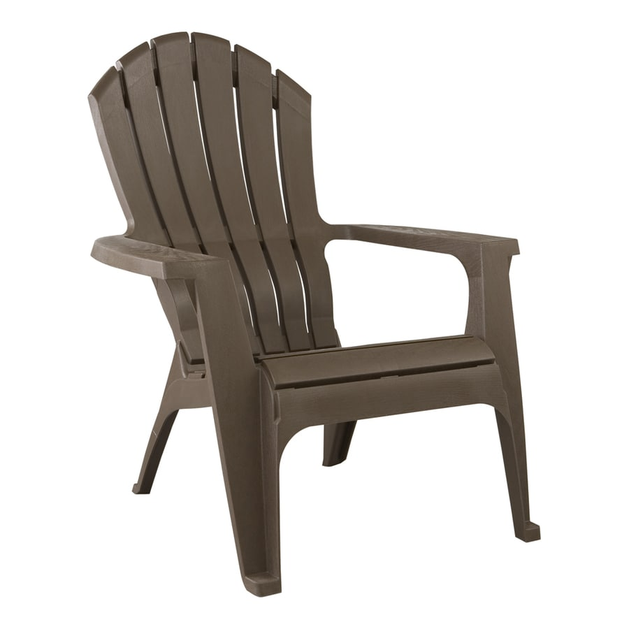Adams Mfg Corp Earth Brown Resin Stackable Patio Adirondack Chair