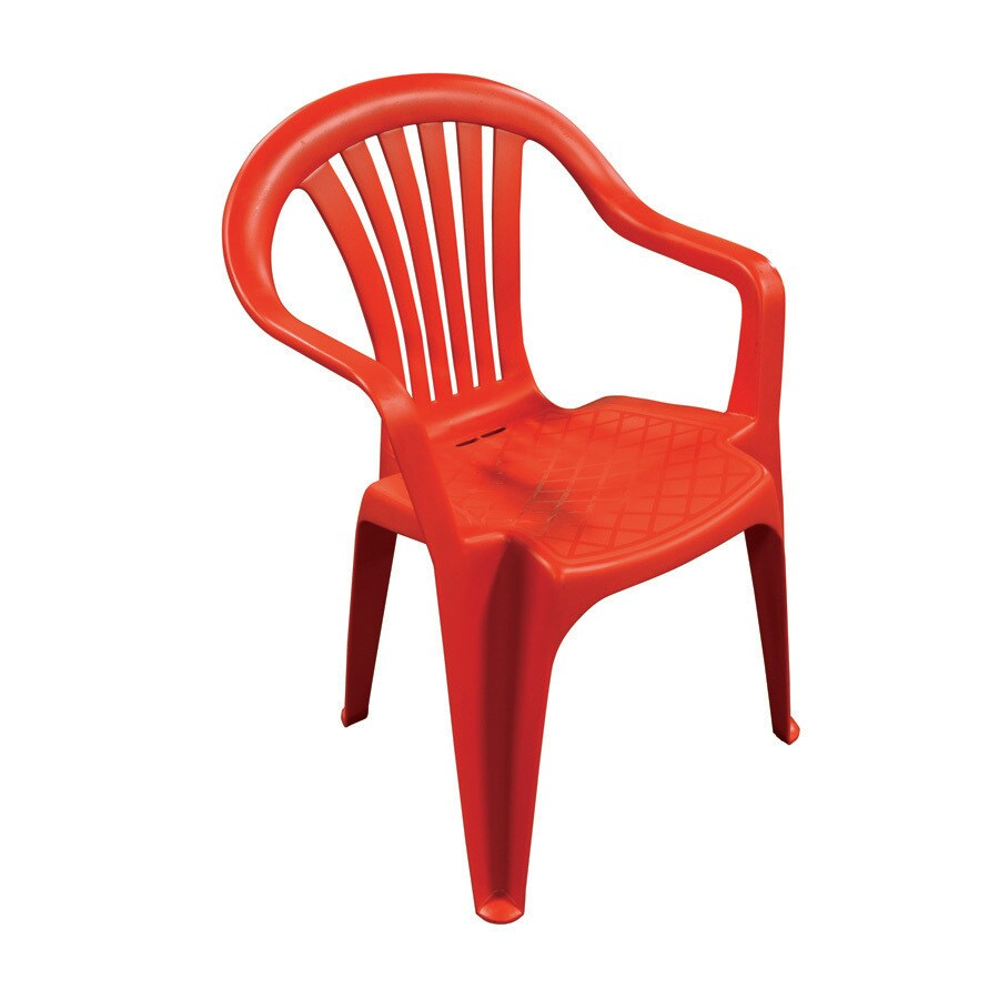 Adams Mfg Corp Red Resin Dining Chair