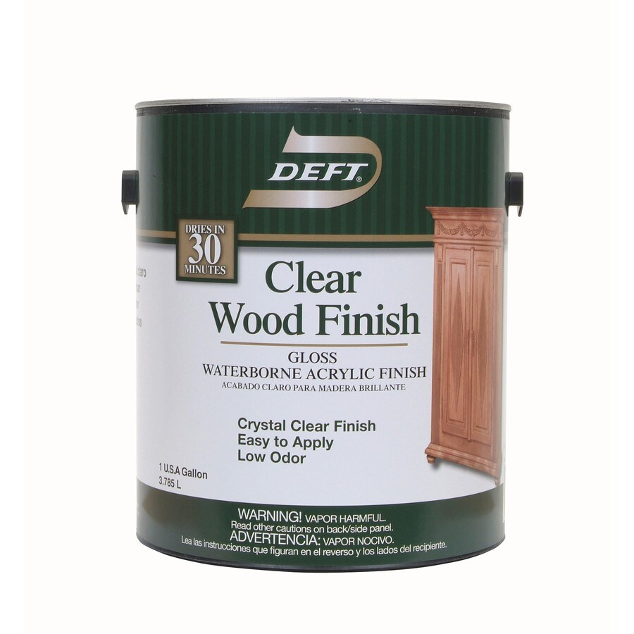 Shop Deft Water Base Clear Wood Finish 128 Fl Oz Interior