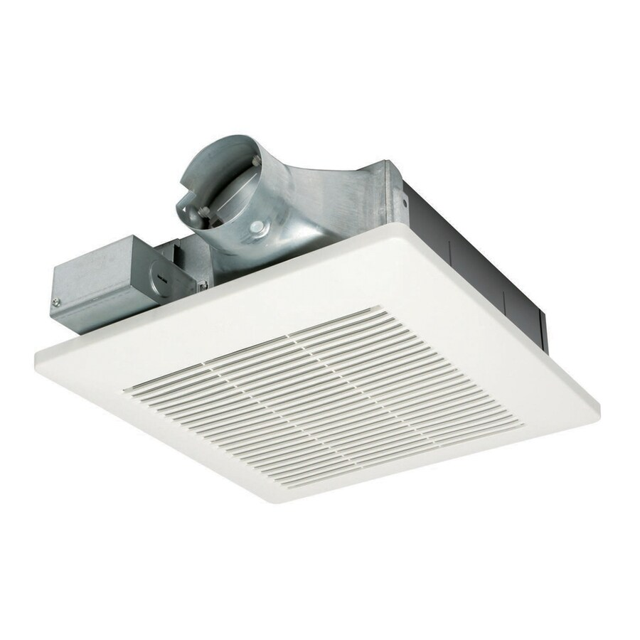 Shop panasonic 0 8 sone 50 cfm white bathroom fan energy for Bathroom ventilation