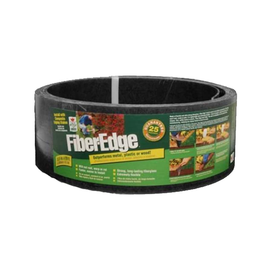 Easy Gardener 20-ft Black Fiberglass Landscape Edging Roll