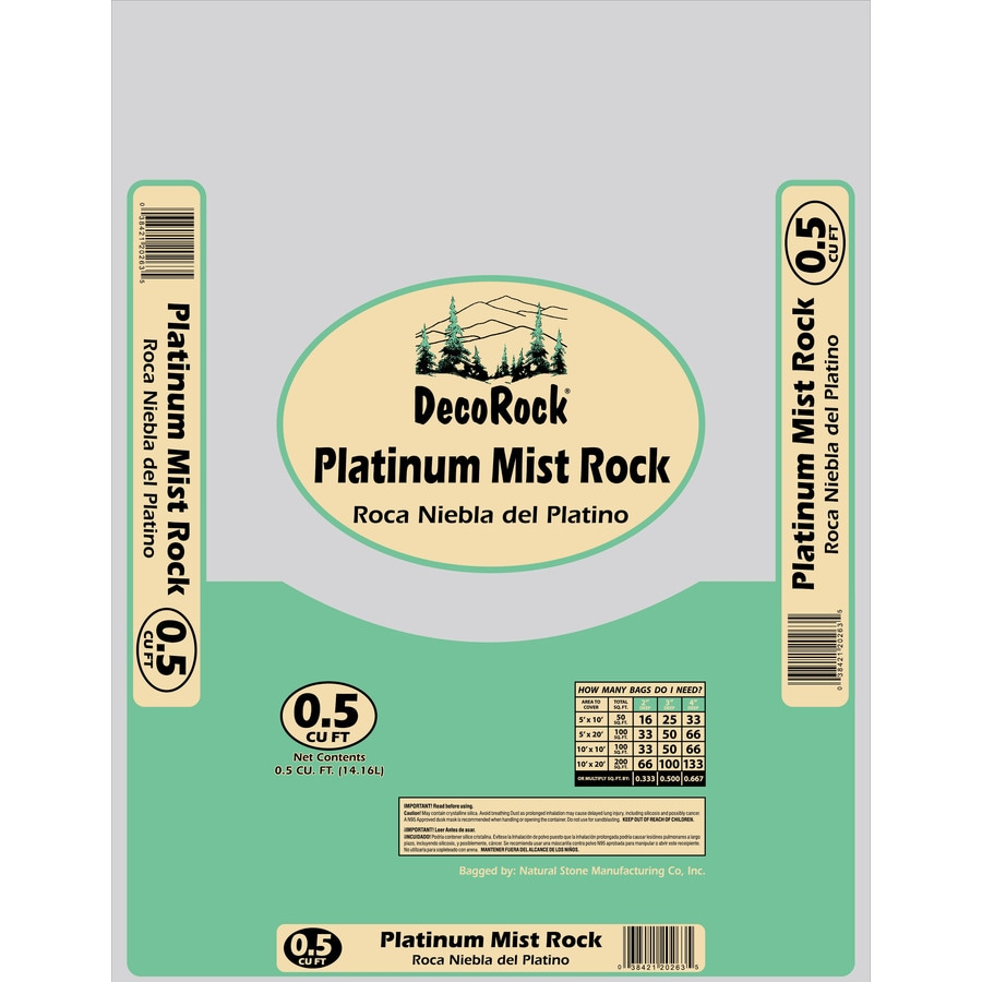 0.5-cu ft Platinum Mist Rock