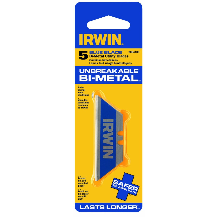 IRWIN 5-Pack 2.4-in Bi-Metal Straight Replacement Utility Blades