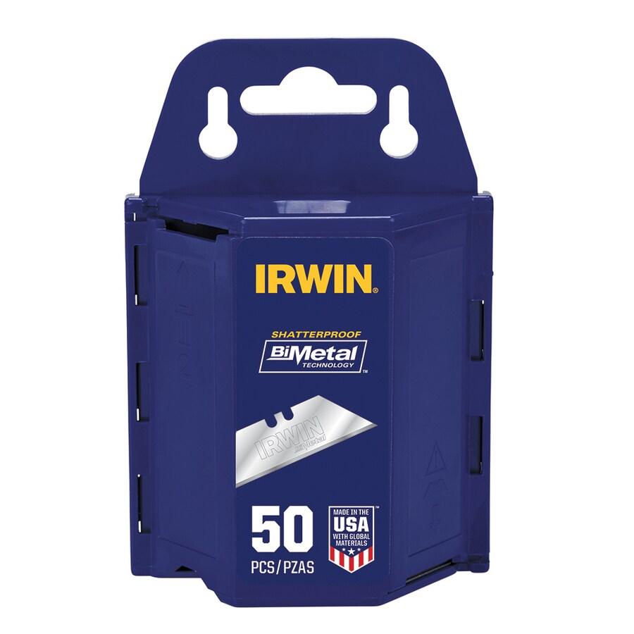 IRWIN 50-Pack Bi-Metal Blue Utility Knife Blades
