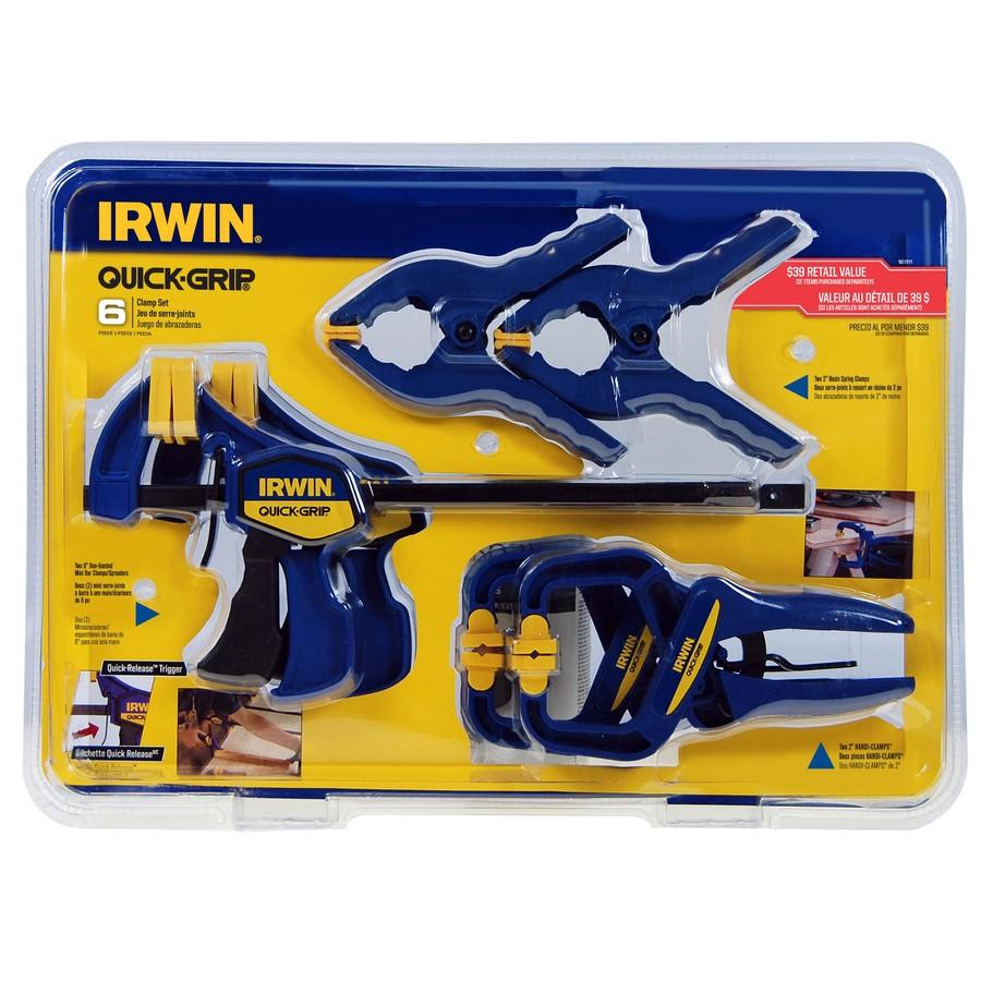 IRWIN 6-Piece 1-in Clamp Set