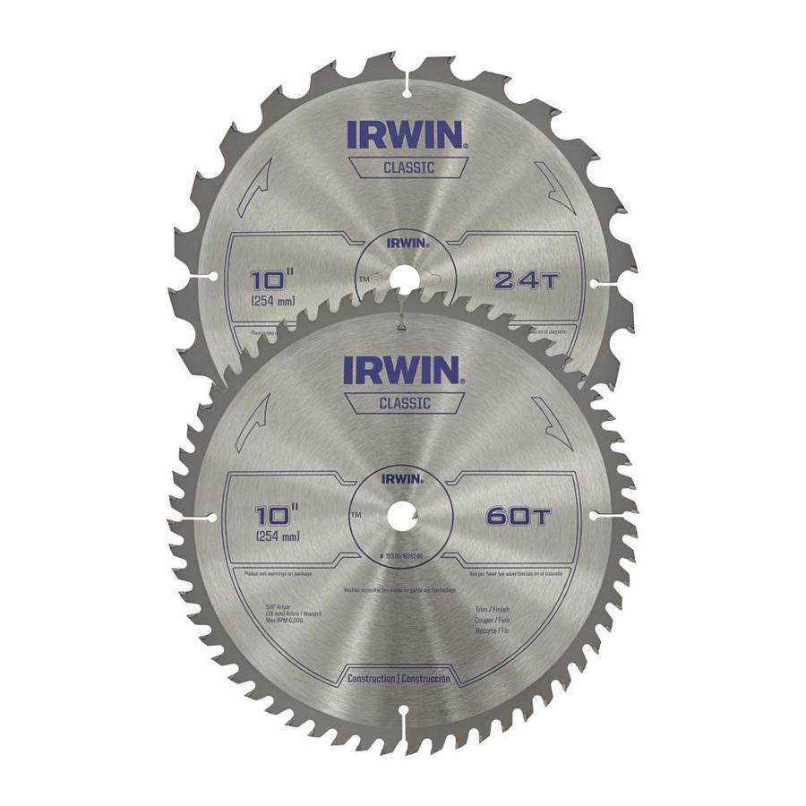 IRWIN 2-Pack 10-in Circular Saw Blade Set