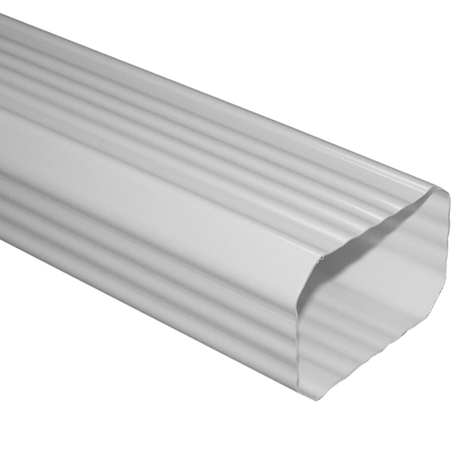 Severe Weather 10-ft White Vinyl Downspout