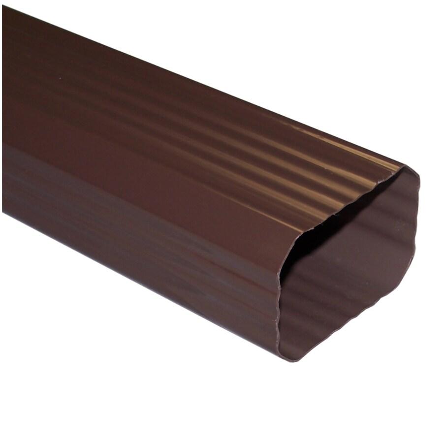 Genova 10-ft Brown Vinyl Downspout