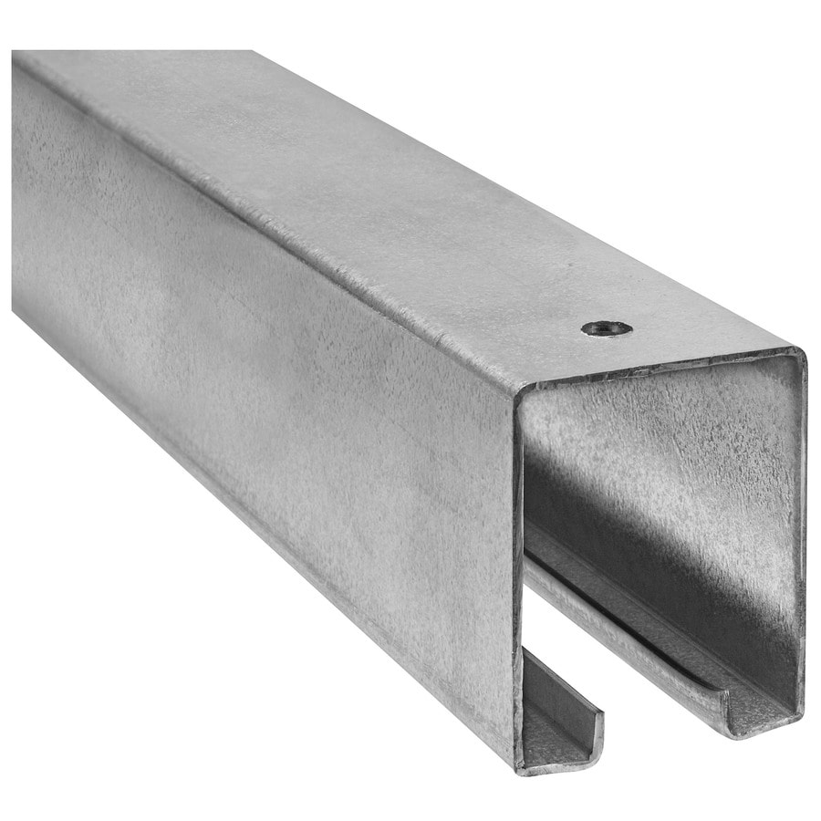 Stanley-National Hardware 8-ft L x 2.4-in W x 1.88-in H Plated Steel Plain Square Tube