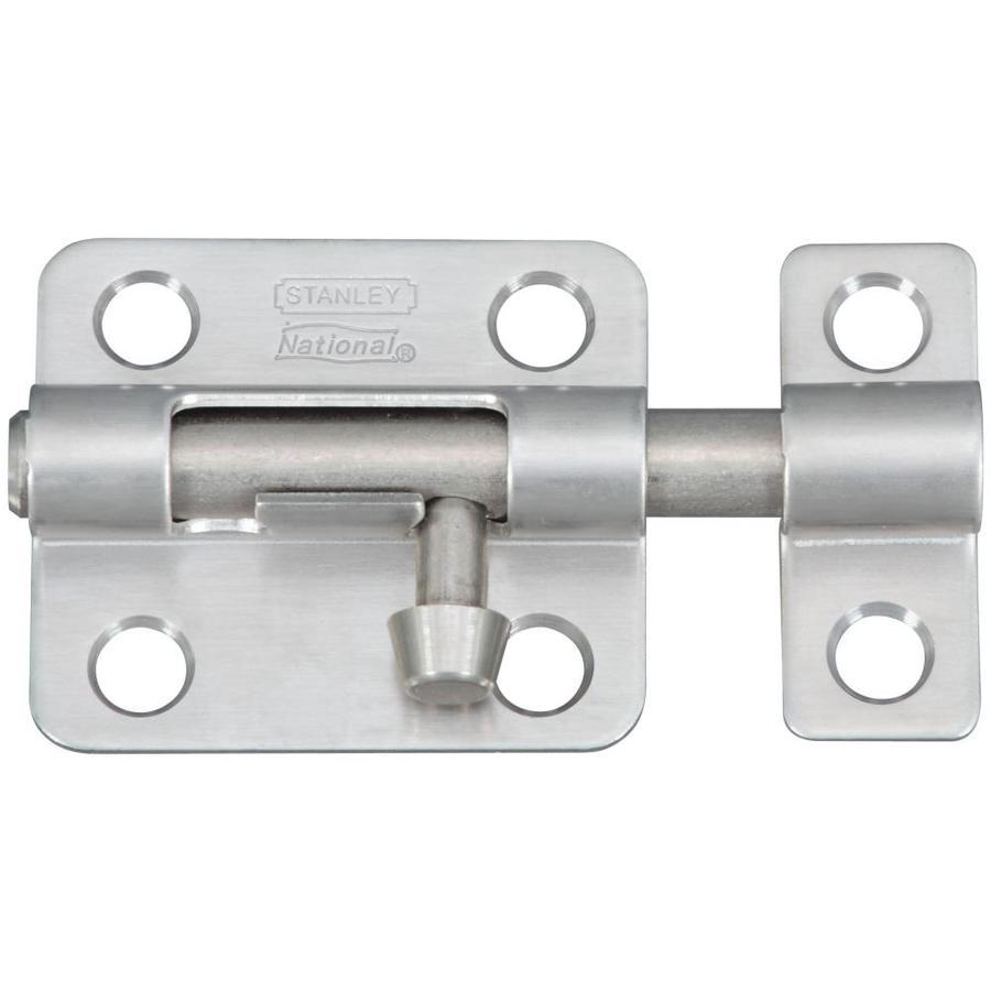 Stanley-National Hardware 2.5-in Stainless Steel Barrel Bolt