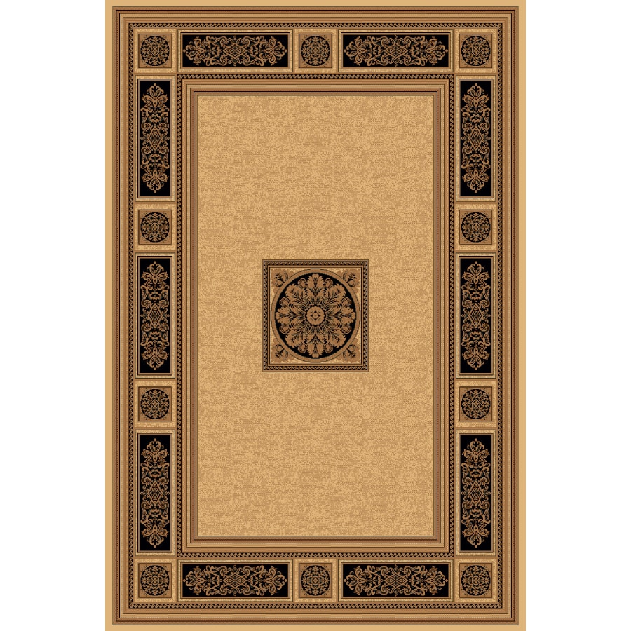 Natco Chateaux 118-in x 153-in Rectangular Cream/Beige/Almond Transitional Area Rug