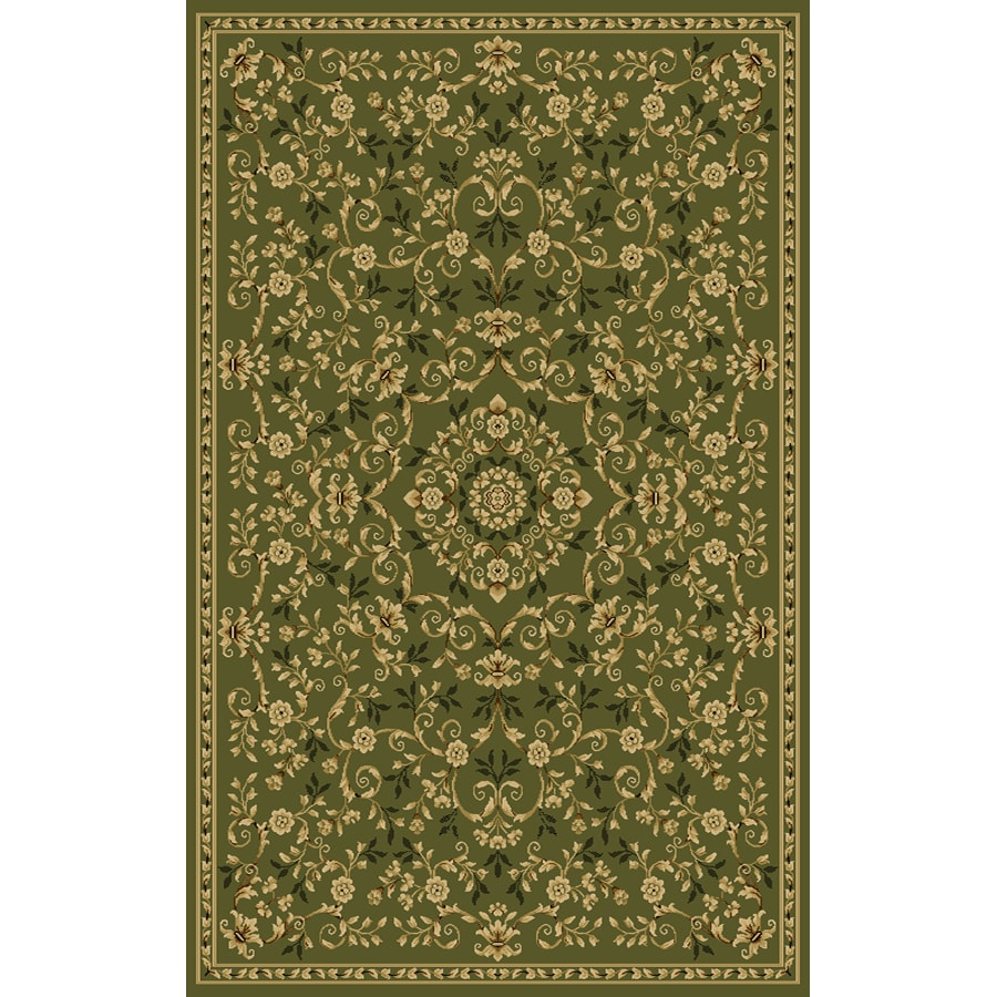 Natco Interlude 60-in x 87-in Rectangular Green Transitional Area Rug