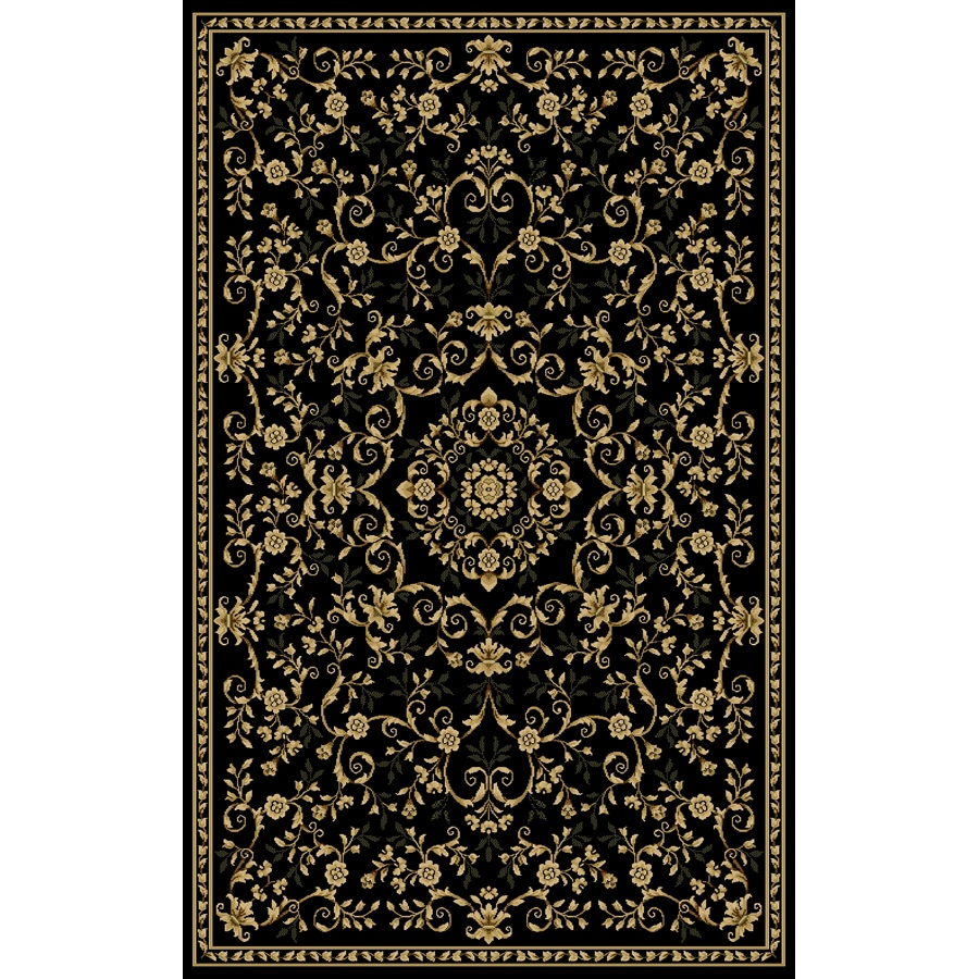 Natco Interlude 60-in x 87-in Rectangular Black Transitional Area Rug