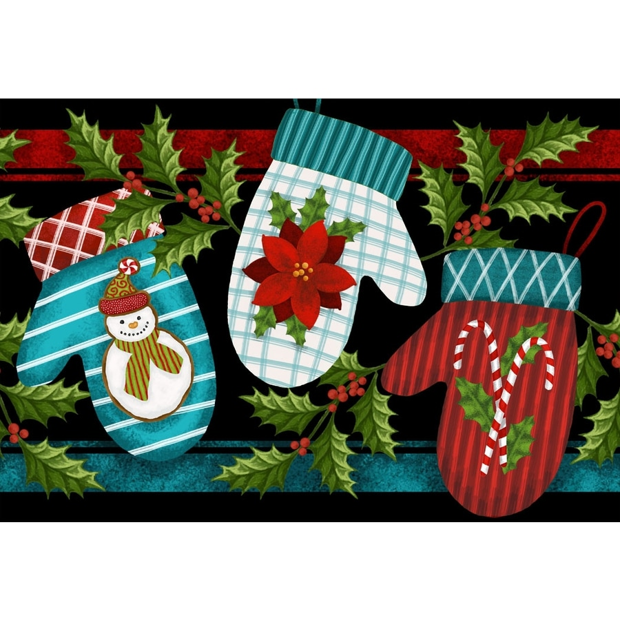 Natco Gloucester Rectangular Multicolor Holiday Tufted Accent Rug (Common: 1-1/2 x 2 1/2; Actual: 19.7-in x 29.9-in)