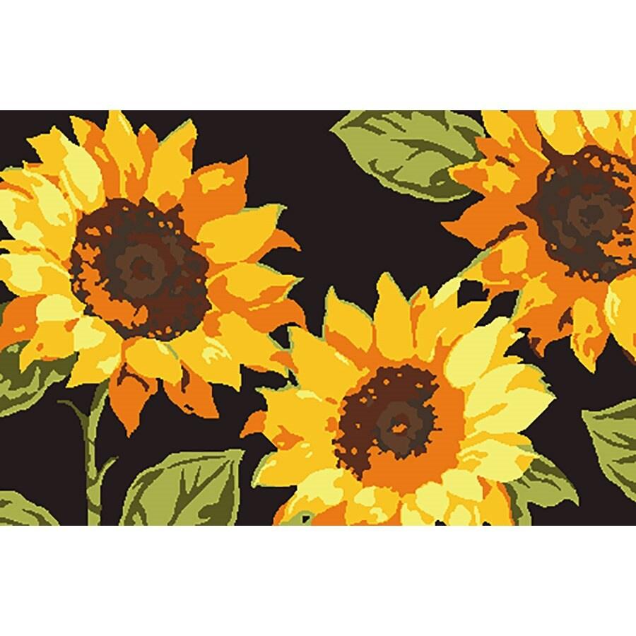 Natco Harvest Multicolor Rectangular Door Mat (Common: 20-in x 30-in; Actual: 19.7-in x 29.9-in)