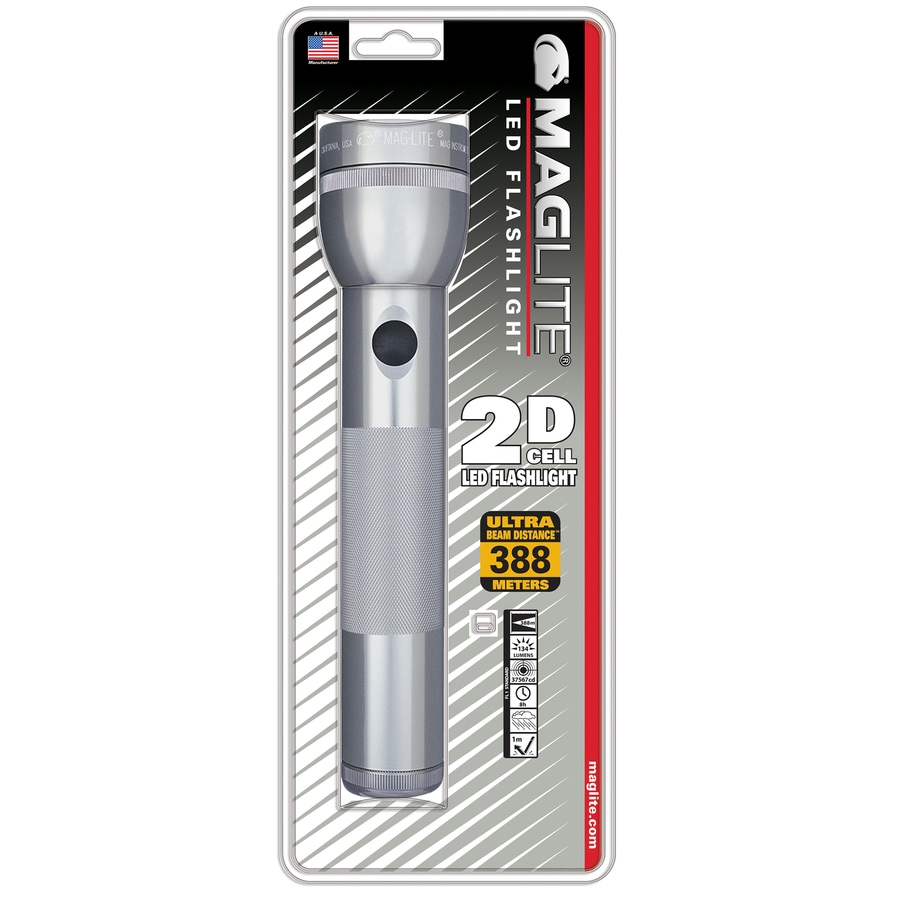 Maglite® MAG-LED 2-Cell D Flashlight - Gray
