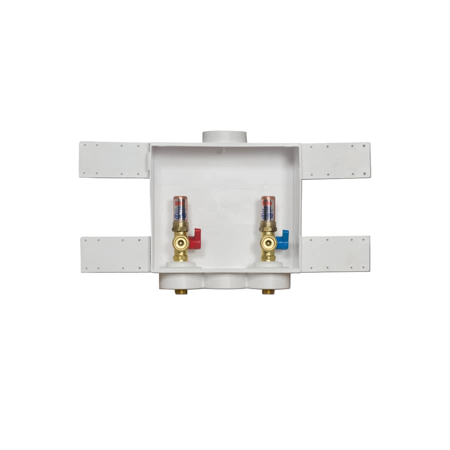 2x4 Oatey 38206 Assembled Washing Machine Outlet Box CPVC Single Lever with Water Hammer