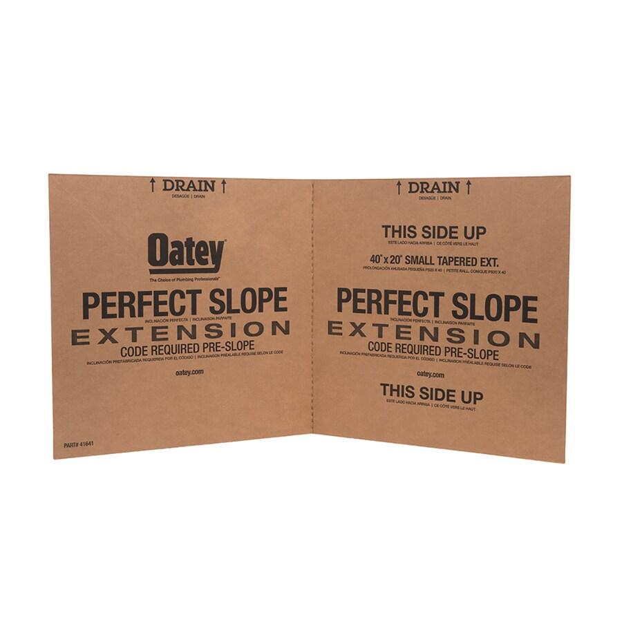Oatey Perfect Slope White Styrene Shower Kit