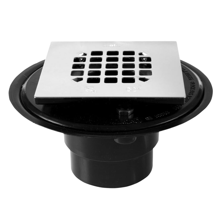 Oatey Fits Pipe Size 3-in dia Black ABS Shower Drain