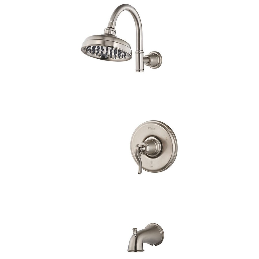 Shop Pfister Ashfield Brushed Nickel 1 Handle Bathtub And Shower Faucet With