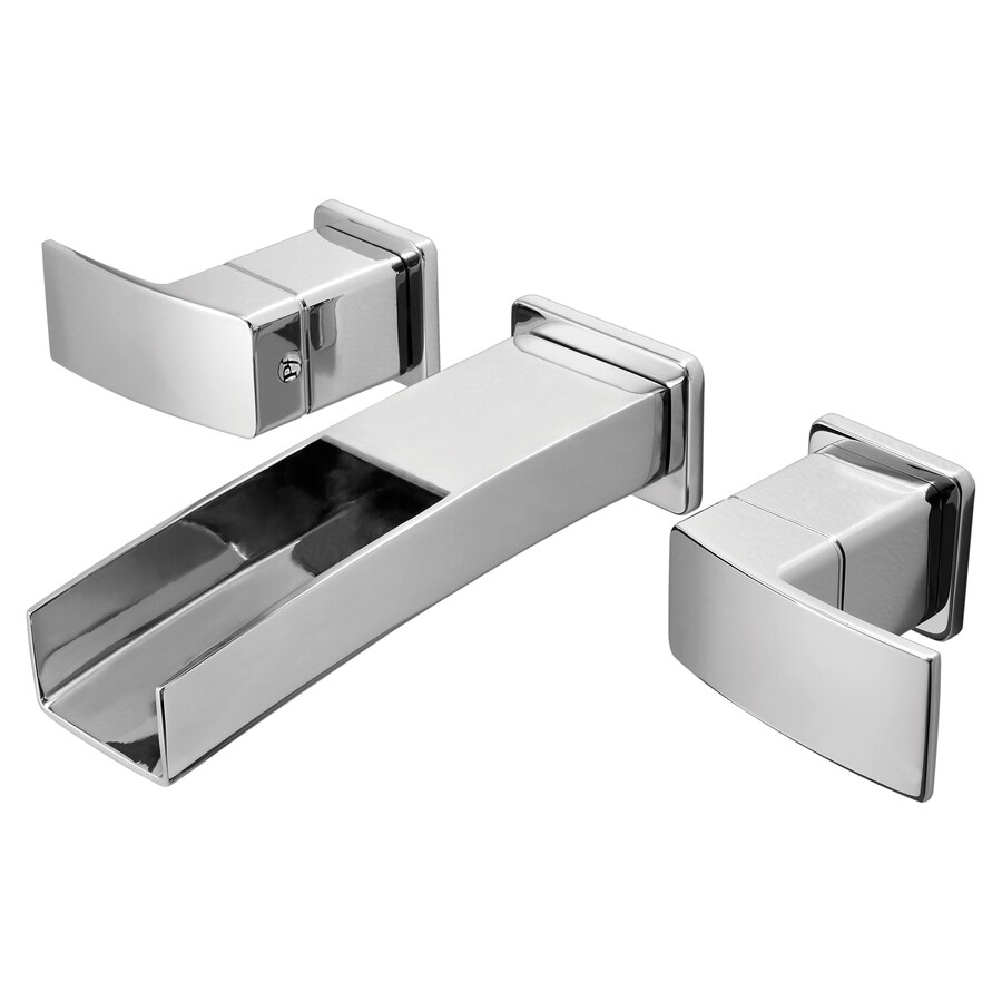 Pfister Kenzo Polished Chrome 2-Handle Widespread WaterSense Labeled Bathroom Sink Faucet (Drain Included)