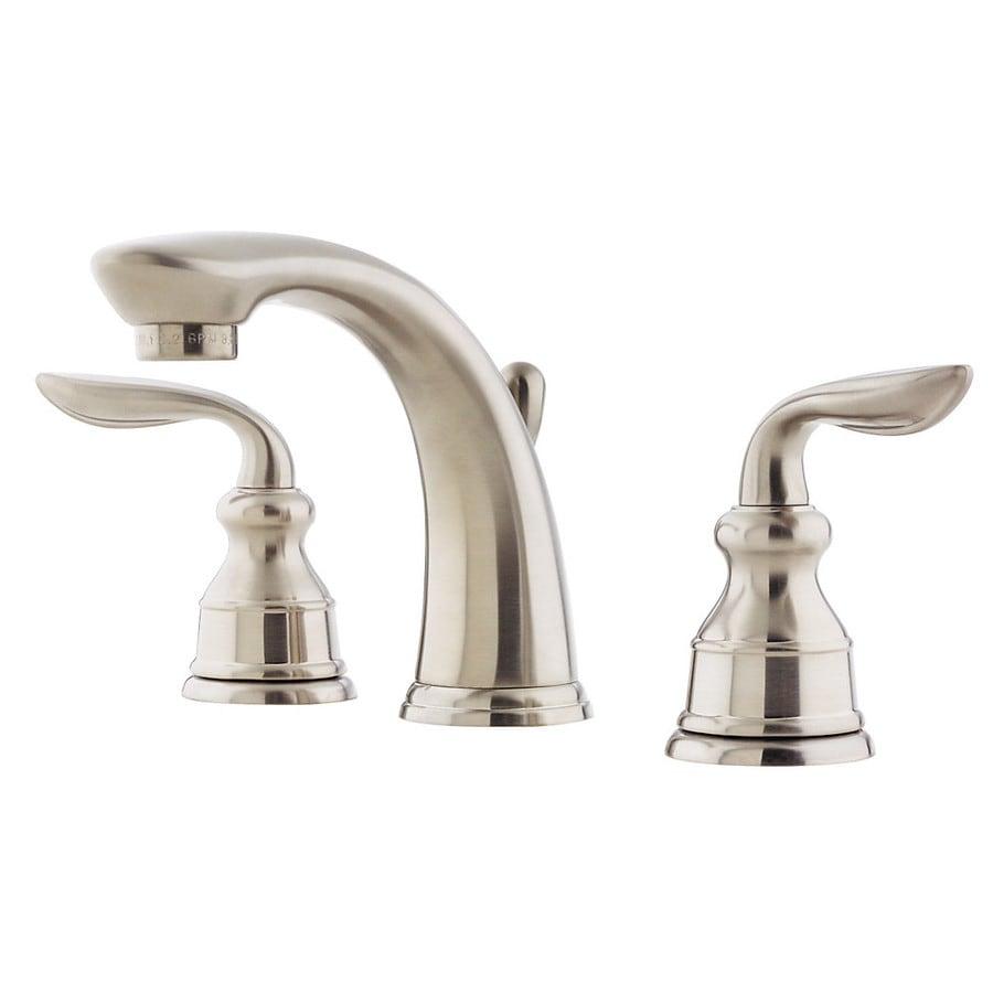 Shop Pfister Avalon Brushed Nickel 2 Handle Widespread Watersense Bathroom Faucet Drain