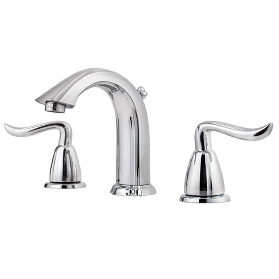 Pfister Santiago Polished Chrome 2-Handle Widespread WaterSense Bathroom Faucet (Drain Included)