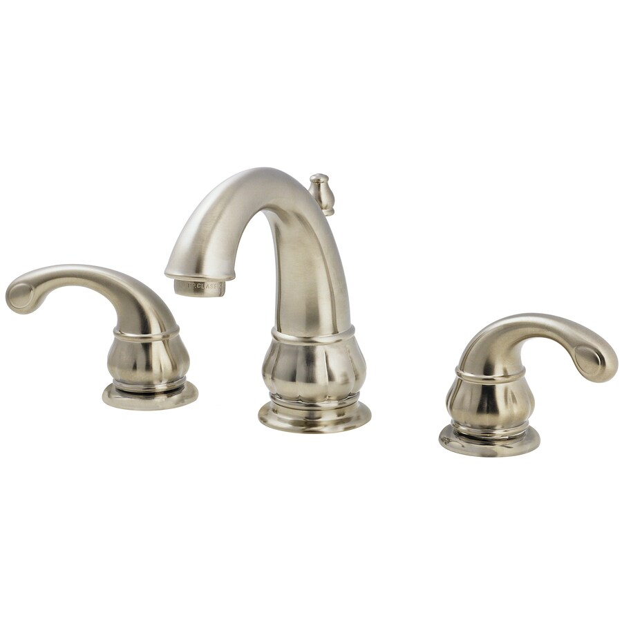 Pfister Treviso Brushed Nickel 2-Handle Widespread WaterSense Bathroom Faucet (Drain Included)