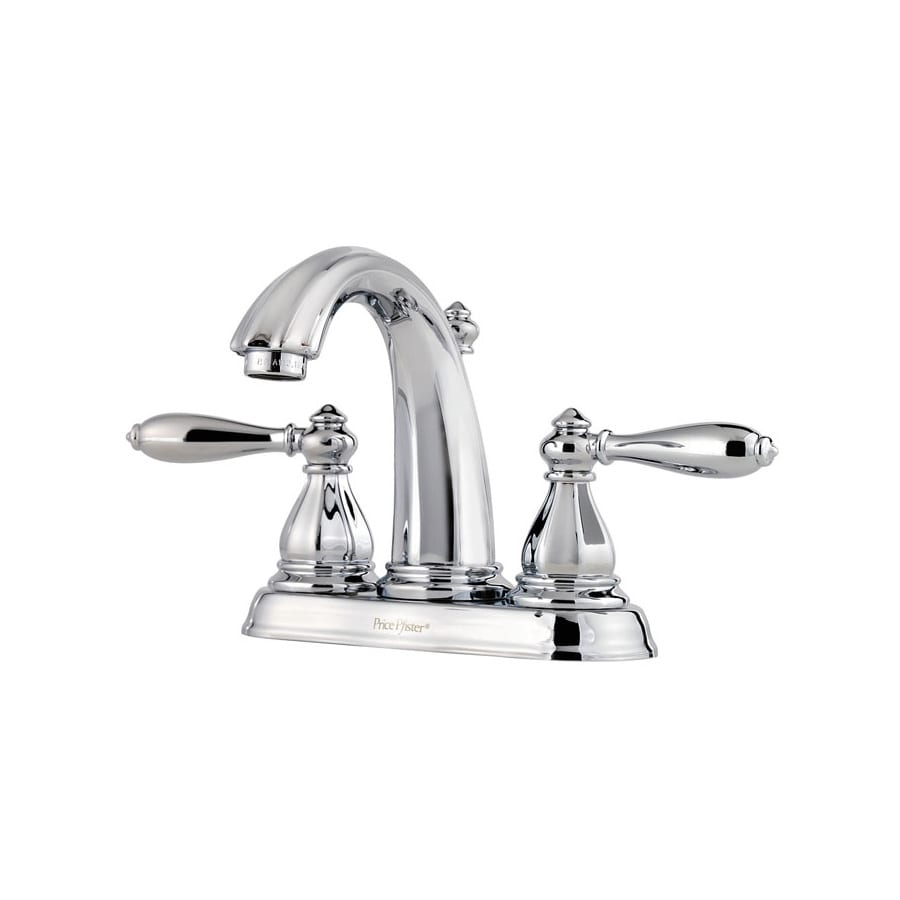 Pfister Portola Polished Chrome 2-Handle 4-in Centerset WaterSense Bathroom Faucet (Drain Included)