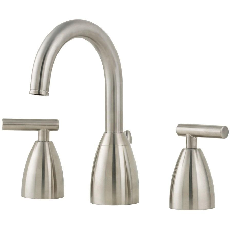 Widespread Bathroom Faucet Brushed Nickel : ... Brushed Nickel 2-Handle Widespread WaterSense Bathroom Faucet (Drain