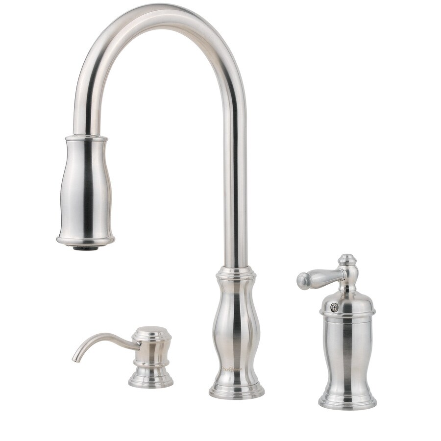 Shop Pfister Hanover Stainless Steel 1-Handle Pull-Down Kitchen Faucet ...