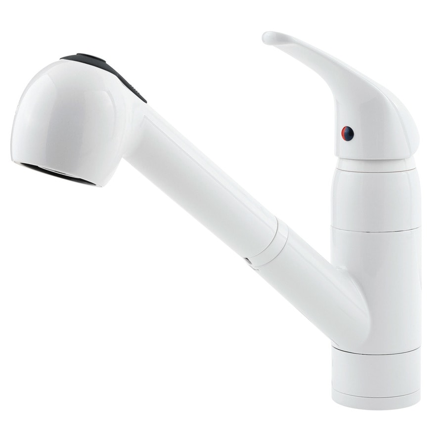 Shop Pfister Pfirst Series White 1 Handle Pull Out Kitchen