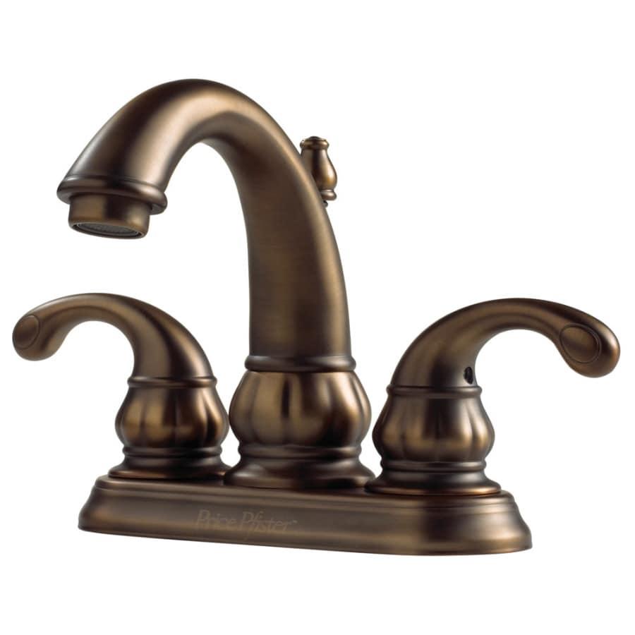 Pfister Treviso Velvet Aged Bronze 2-Handle 4-in Centerset WaterSense Bathroom Faucet (Drain Included)