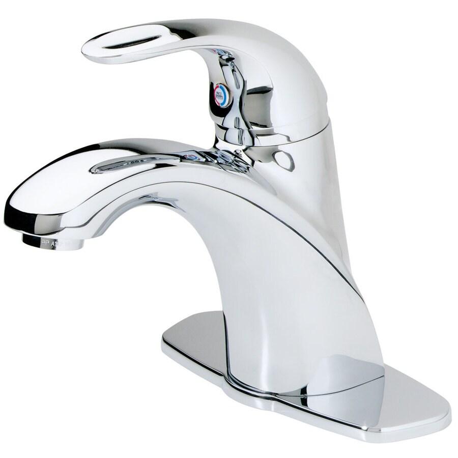Pfister Parisa Polished Chrome 1-Handle 4-in Centerset WaterSense Bathroom Faucet