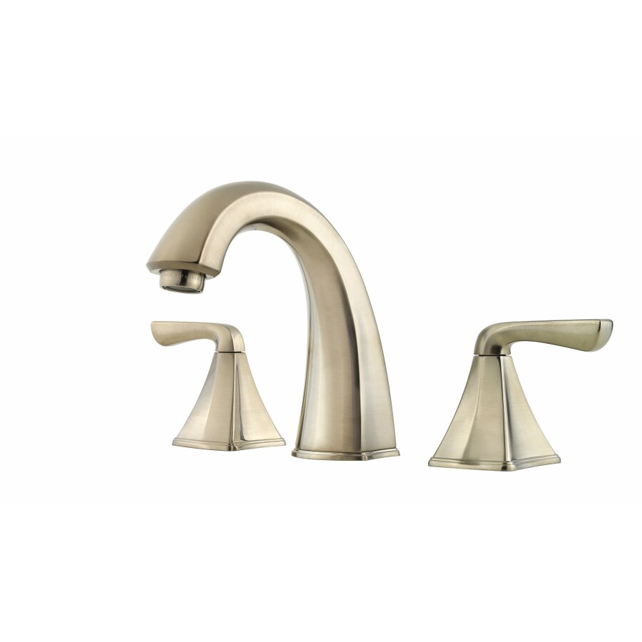 Widespread Bathroom Faucet Brushed Nickel : Selia Brushed Nickel 2-Handle Widespread WaterSense Bathroom Faucet ...