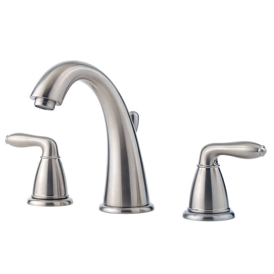 Bathroom Faucets Brushed Nickel Widespread : Serrano Brushed Nickel 2-Handle Widespread WaterSense Bathroom Faucet ...