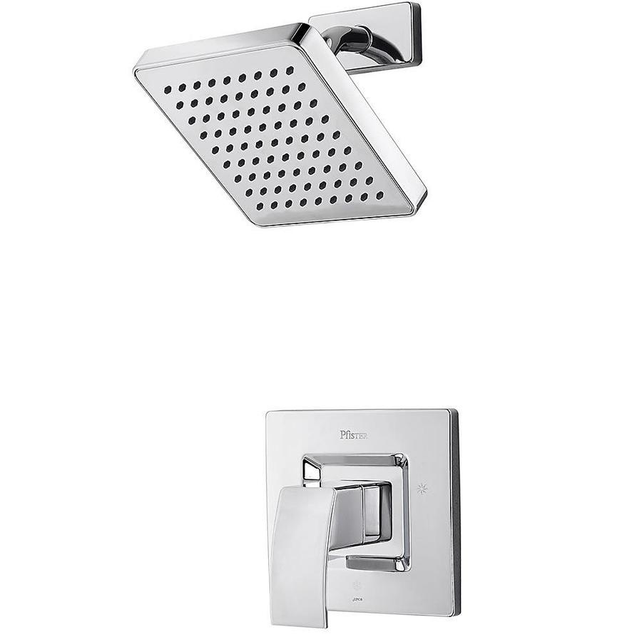 Pfister Kenzo Polished Chrome 1-Handle Shower Faucet Trim Kit with Rain Showerhead